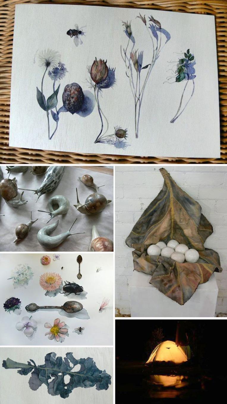 Gingko-collage